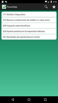 5 Schermata Cuentas Plan General Contable