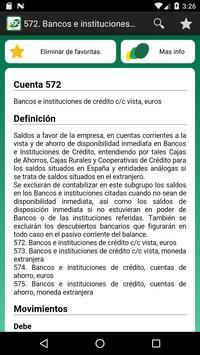 Cuentas Plan General Contable ảnh chụp màn hình 3