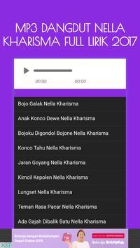 Mp3 Dangdut Nella Kharisma Full Lirik 2017 apk screenshot