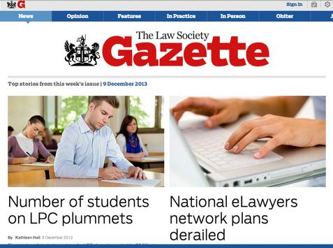 The Law Society Gazette screenshot 2
