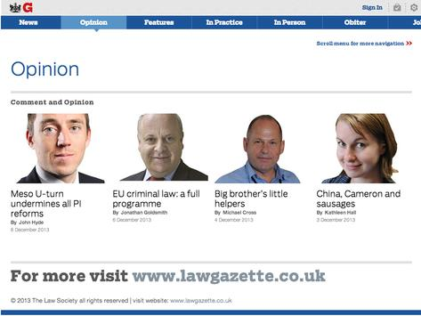 The Law Society Gazette screenshot 3