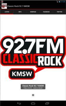 Classic Rock 92.7 KMSW poster
