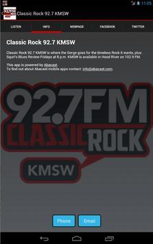 Classic Rock 92.7 KMSW screenshot 1