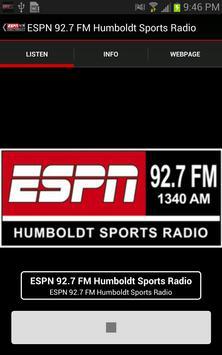 ESPN 92.7 FM Humboldt Sports poster