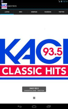 KACI 93.5 poster
