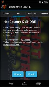 Hot Country K-SHORE screenshot 1