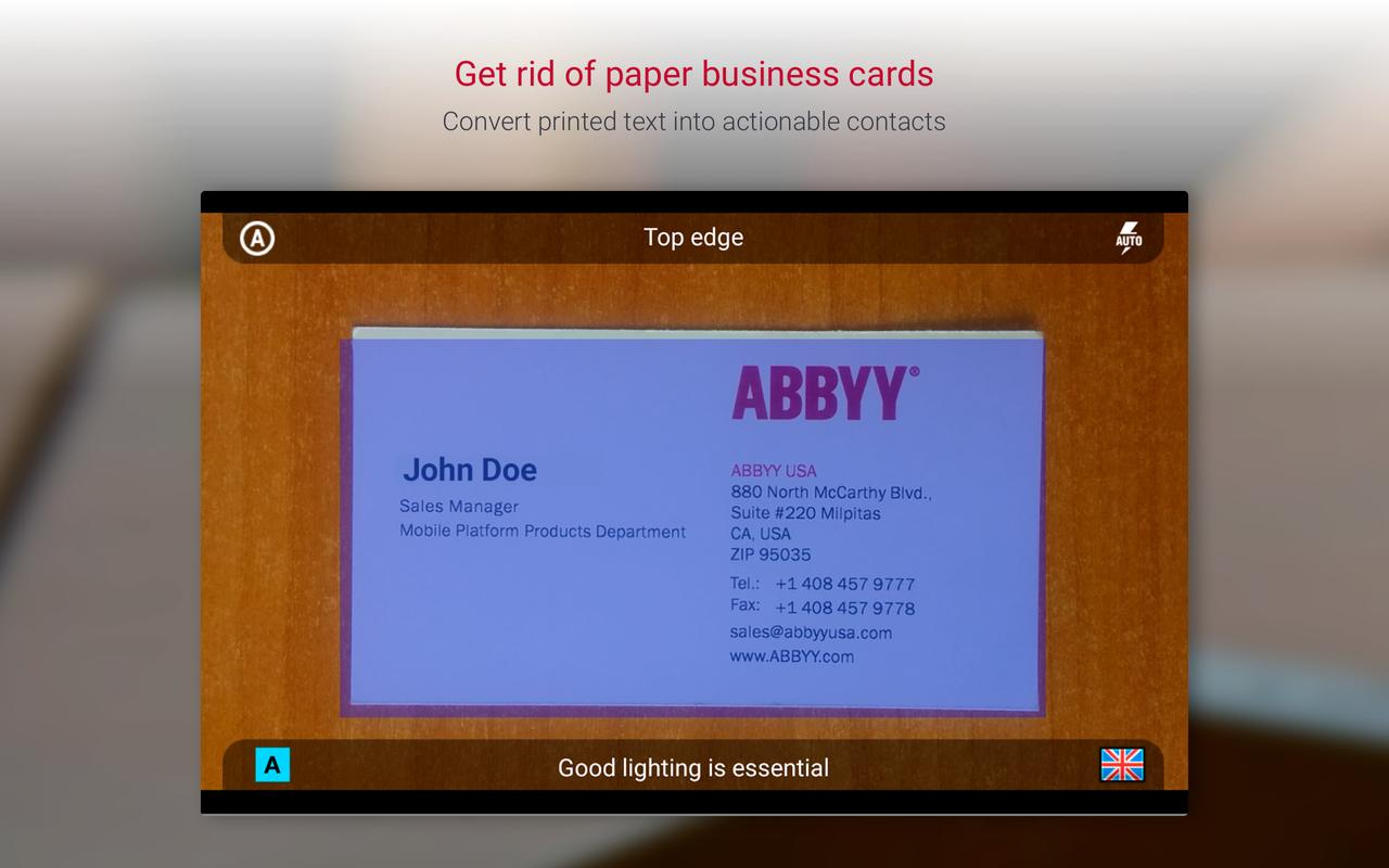 Business Card Reader Free - Business Card Scanner APK Download ...