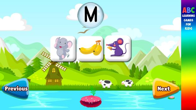 ABC Learning Games for Kids apk screenshot