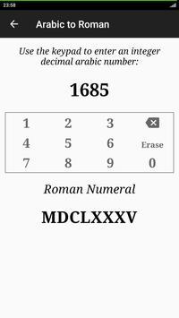 Roman Numerals Converter apk screenshot