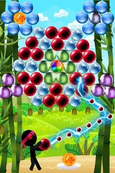 Ninja Stickman bubble shooter free poster