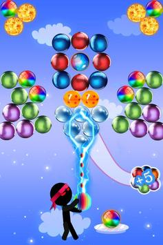 Ninja Stickman bubble shooter free screenshot 1