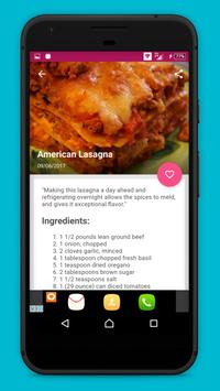 lasagna Recipes !! apk screenshot