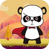 amazing panda in adventure icon