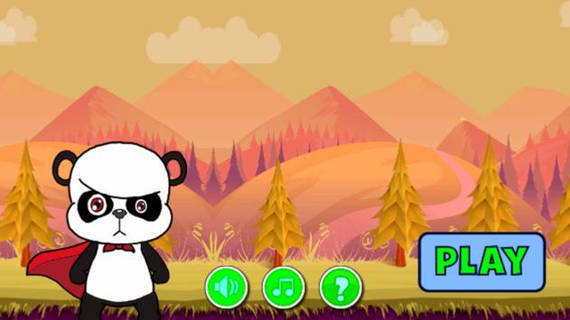 amazing panda in adventure poster