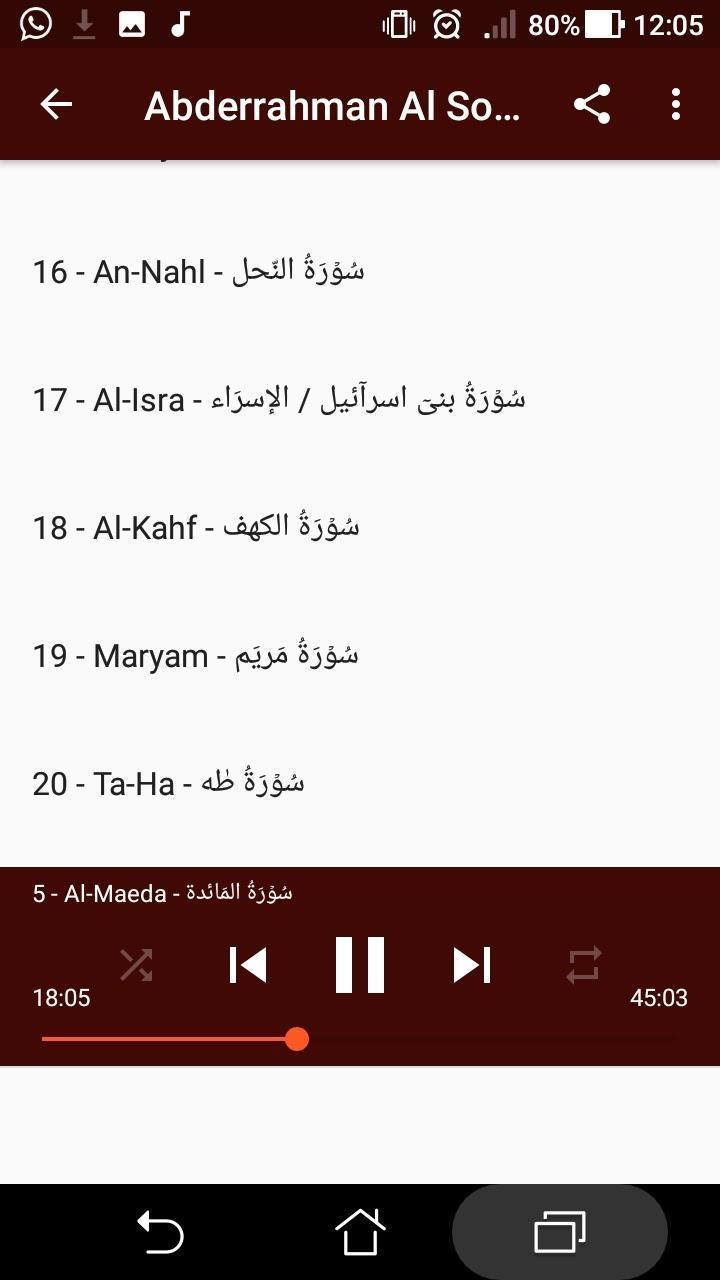 Abderrahman Al Soudais Hors Connexion Offline 1 For Android Apk