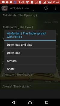 Quran Mp3 Abdul Al Sudais screenshot 2