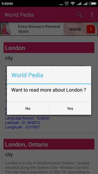 World Pedia apk screenshot