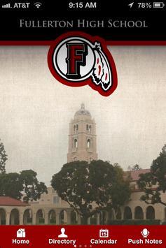 Fullerton High School poster