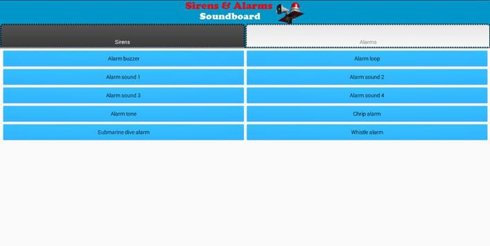 Sirens and Alarms Soundboard apk screenshot
