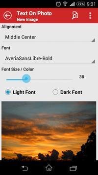 Text On Photo apk screenshot