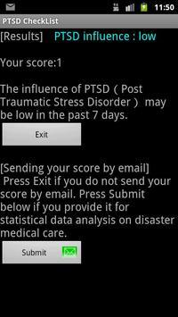 PTSD CheckList apk screenshot