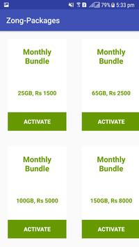 All Packages For Zong screenshot 3