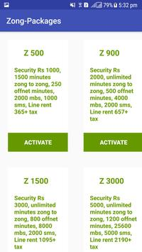 All Packages For Zong screenshot 1