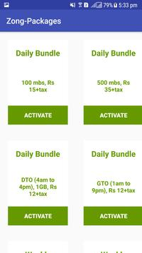 All Packages For Zong screenshot 2