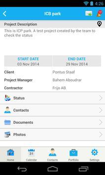 Byggprojekt apk screenshot