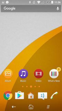 Flat Orange Theme poster