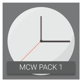 Material Clock Widgets - P1 icon