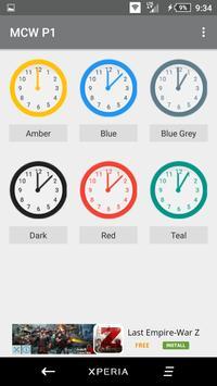 Material Clock Widgets - P1 apk screenshot