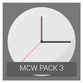 Material Clock Widgets - P3 icon