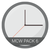 Material Clock Widgets - P6 icon