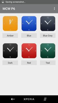 Material Clock Widgets - P6 apk screenshot