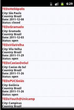 TEDx Finder apk screenshot