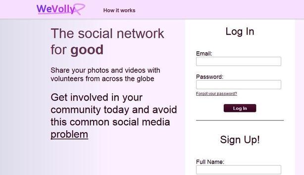 WeVolly Volunteer Network poster