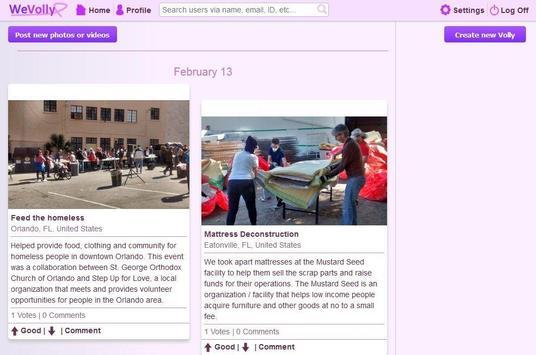 WeVolly Volunteer Network screenshot 1