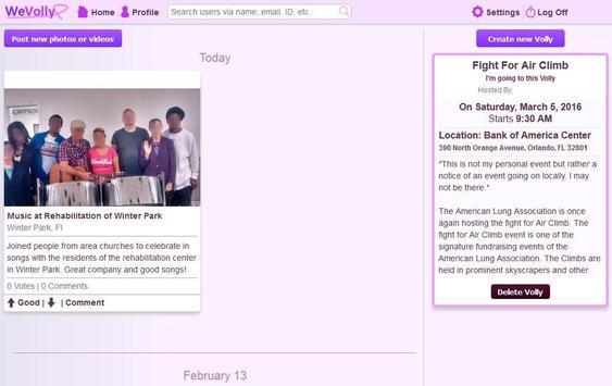WeVolly Volunteer Network screenshot 2