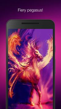 Fiery pegasus poster