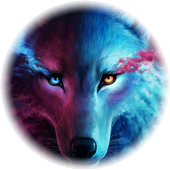 Space wolf icon