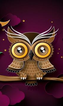 abstract owl live wallpaper poster