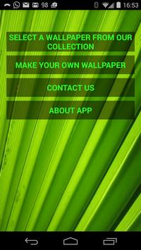 Green Wallpapers Deluxe poster