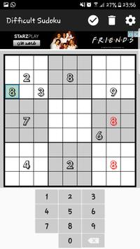 Difficult Sudoku apk screenshot