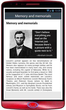 Abraham Lincoln History screenshot 1