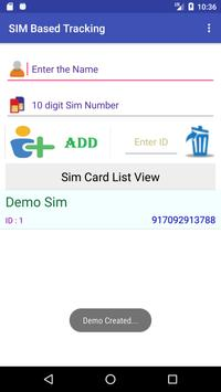 SIM card-based tracking apk screenshot