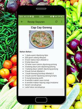 Resep Masakan Sayuran poster