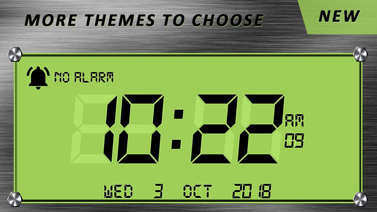 Night Mode Digital Clock with Screensaver App for Android