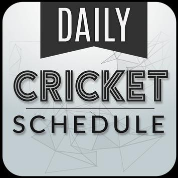 Live cricket schedule 2017 poster