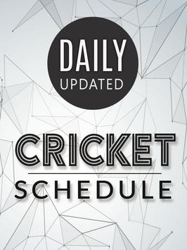 Live cricket schedule 2017 screenshot 1
